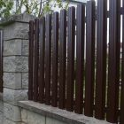 Забор из металлического штакетника 3
