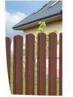 Забор из металлического штакетника 1