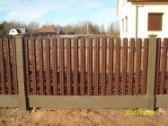 Забор из металлического штакетника_1